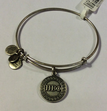 Pi Beta Phi-Sorority Charm Bangle-Silver