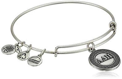 Alpha Delta Pi-Sorority Charm Bangle-Silver