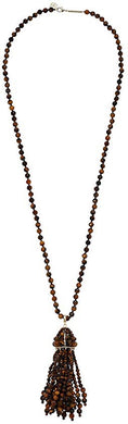 SALE-Sylvia Gold Necklace in Tiger's Eye
