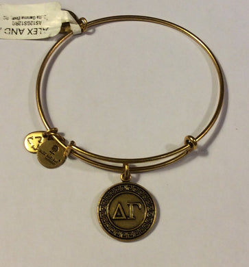 Delta Gamma-Sorority Charm Bangle-Gold