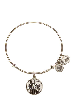 My Love Is Alive Bangle-Silver