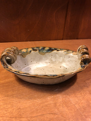 Ivory Linen Oval Bowl