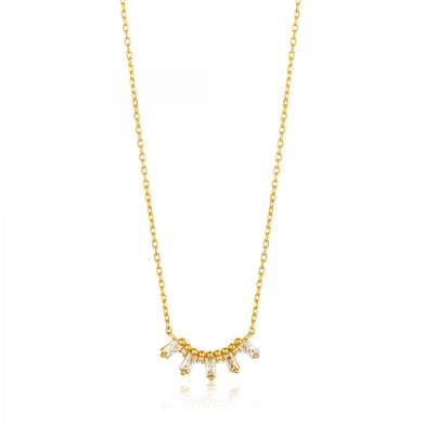 Glow Solid Bar Necklace-Gold
