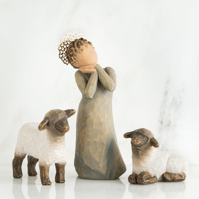 WILLOW TREE®, LITTLE SHEPHERDESS
