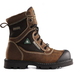 Royer 10-8620 BRUN Botte de travail SANS MÉTAL Imperméable Metal Free Waterproof Safety Boots