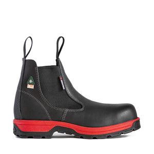Royer 5630GTR BLACK & RED ROMEO REBOOT™ Pull-on Boots Metal free - Boutique du Cordonnier