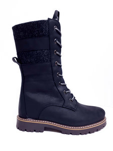 Anfibio ENYA II 8002C Black Width B Winter Boots with Impremeable Cleats FACT IN CANADA - Coordinator's Shop