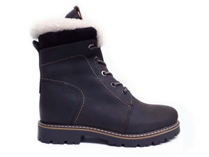 Anfibio NORWAY II 7814C Choco Largeur B Winter boots with staples impreméable MAKES IN CANADA - Boutique of the Shoemaker