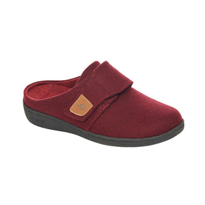 Biotime AMITY Burgundy Women Slippers with Removable insole for Orthotics - Boutique du Cordonnier