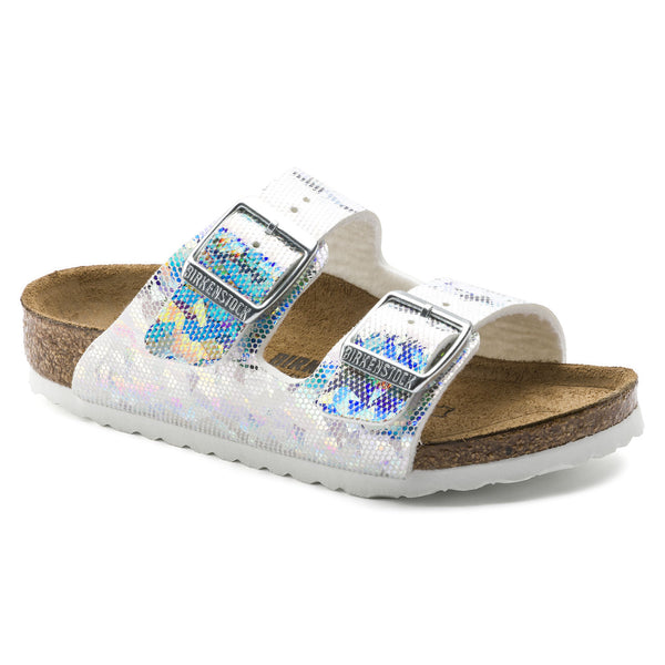Birkenstock Arizona 1008097 Hologram Silver Birko Flor Width Narrow child - Shop of the Shoemaker