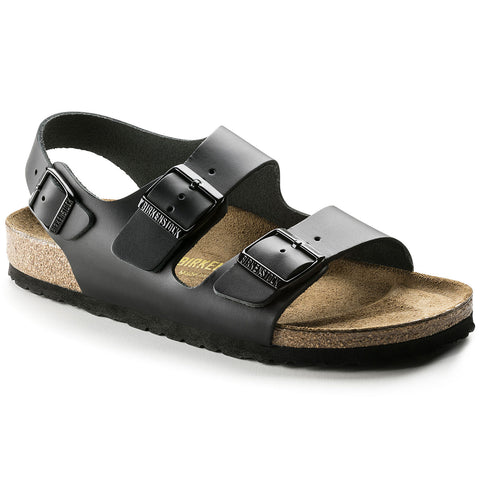 Birkenstock Milano 034191 Black in Regular Width Leather - Coordinator's Shop