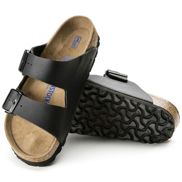 Birkenstock ARIZONA SOFT 551253 Black Narrow width - Boutique du Cordonnier