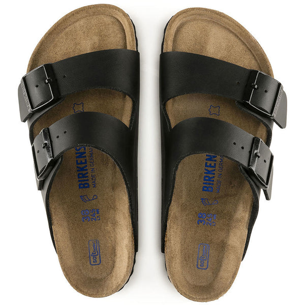 Black BIRKENSTOCK ARIZONA SOFT 551253 narrow Breadth - Boutique of the Shoemaker