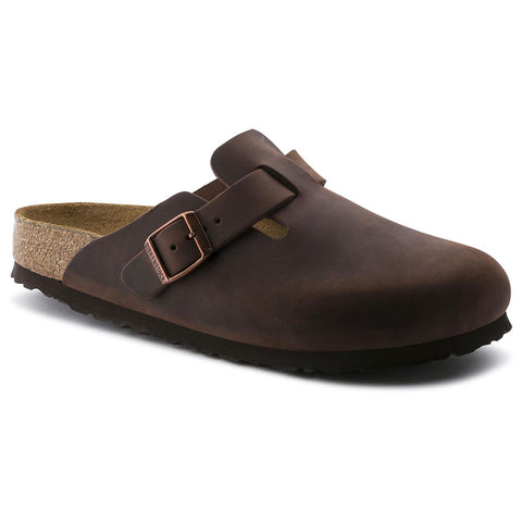Birkenstock BOSTON-SOFT 159711 Habana Oiled Leather Regular Width - Boutique du Cordonnier