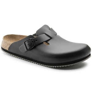 Birkenstock BOSTON SUPER GRIP 60194 BLACK Professional Orthopaedic Clogs - Boutique du Cordonnier