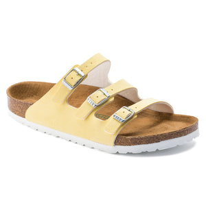 Birkenstock FLORIDA FRESH 1016643 BRUSHED VANILLA VEGAN Narrow Width - Boutique du Cordonnier