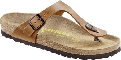 Birkenstock Gizeh 743781 Cuir Brun Naturel Antique
