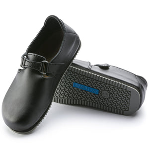 Birkenstock LINZ-GRIP 583184 Black Leather Regular Width - Coordinator's Shop