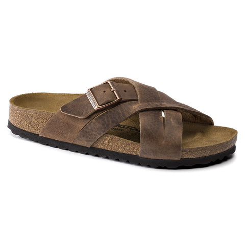 Birkenstock LUGANO 1015498 Camberra Old Tobacco Oiled Leather Largeur Régulière - Boutique du Cordonnier