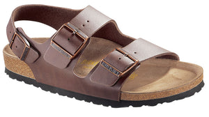 Birkenstock Milano 034701 Brown Birko Flor Width Regular - Shop of the Shoemaker