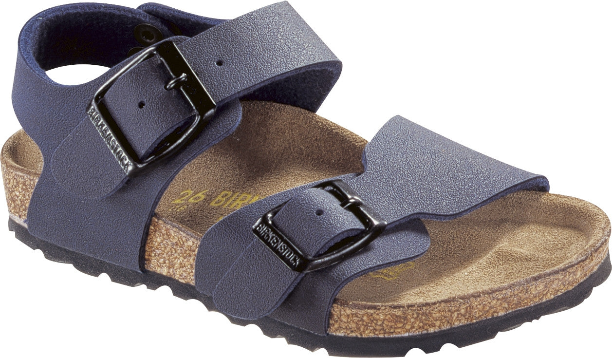 Birkenstock New York Kinder 087773 Birko Flor NAVY Étroit pour ENFANTS KIDS