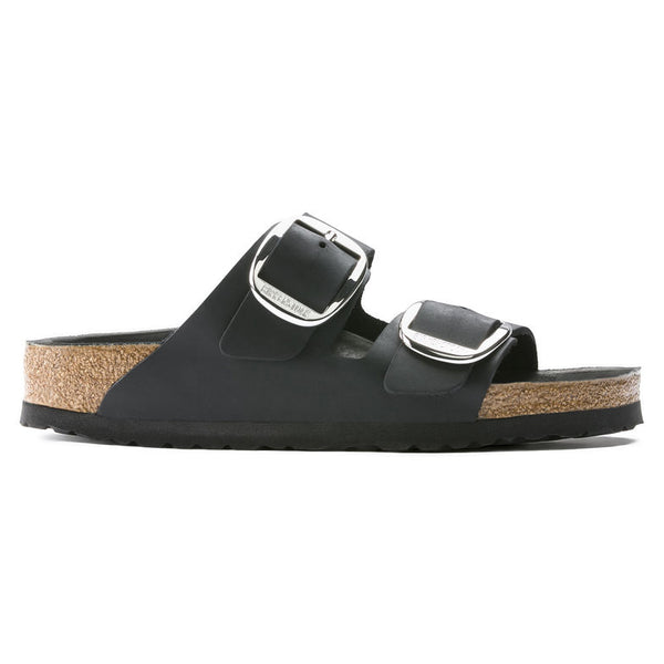 Birkenstock Arizona Big Buckle 1011075 Noir en Cuir Largeur Étroite - Boutique du Cordonnier