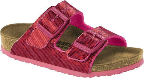 Birkenstock Arizona 1013142 Hologram Pink Birko Flor Narrow children's width - Boutique du Cordonnier