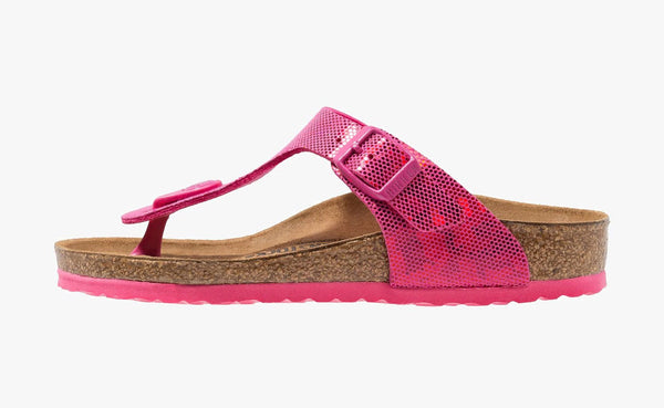 Birkenstock Giza 1013149 Hologram Pink Birko Flor Regular Width for Children - Coordinator Shop