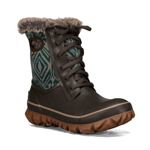 BOGS ARCATA GEO 72549-249 Brown Isolated Boots for Women -50C - Boutique du Cordonnier