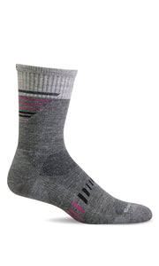 Sockwell CT36W Ascend II Crew Grey 800 therapeutic socks for women Moderate Graduate Compression 15-20mmHg - Boutique du Cordonnier