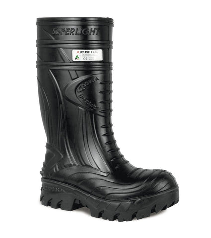 Cofra THERMIC BLACK C00040-11 | PU INSULATED WORK BOOTS WITH METATARSAL PROTECTION - Boutique du Cordonnier