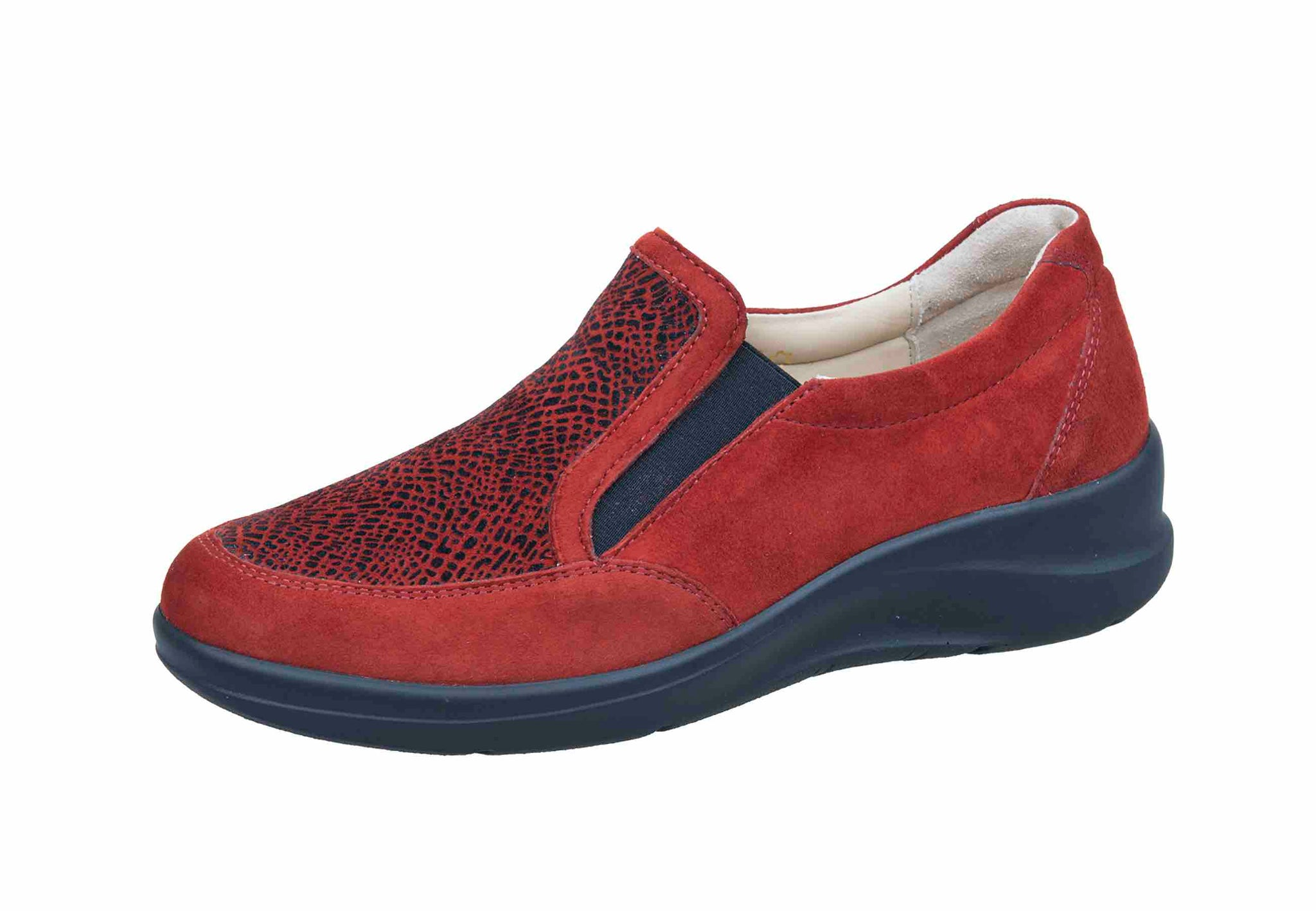 Fidelio HALLUX 546107-16 Rouge Amalfi Multi-stretch Largeur H -Boutique du Cordonnier