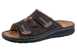 Fidelio 366031-14 Brown Men's walking sandal with removable sole - Boutique du Cordonnier