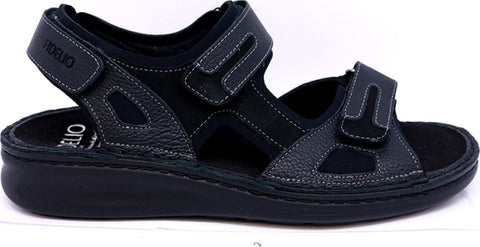 Fidelio 366028-10 Black Men's Walking Sandale with Removable insole-Boutique du Cordonnier
