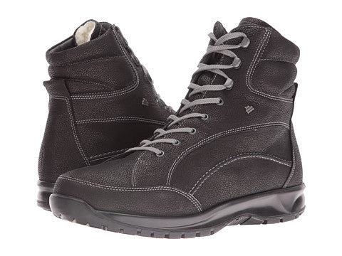 Finn Comfort Whistler 1194 274099 Black Orthopedic Winter Boot with Removable Sole for Men Wool Lining MADE IN GERMANY - Boutique du Cordonnier