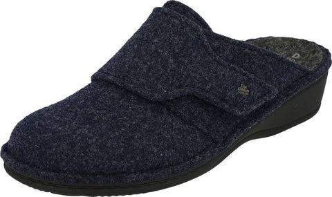 Finn Comfort ANDERMATT 6550-416048 Dark Blue Orthopaedic Felt Clogs with Removable Insoles - Boutique du Cordonnier