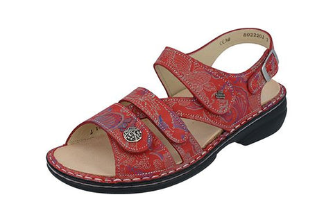 Finn Comfort GOMERA 2562-657420 Pomodore Shibu Orthopedic Sandal with Removable Footbed - Boutique du Cordonnier