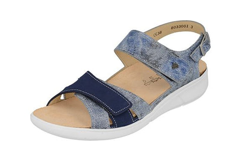 Finn Comfort NADI 3351-902121 Jeans Atoll Hippie Orthopedic Sandals with Removable Footbed - Boutique du Cordonnier