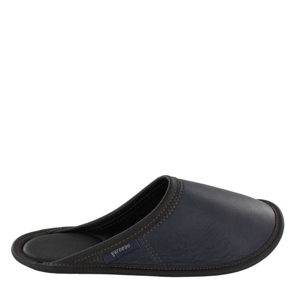 Slippers STYLE STYLE STYLE MULE CUIR Marine for Men-Boutique du Cordonnier
