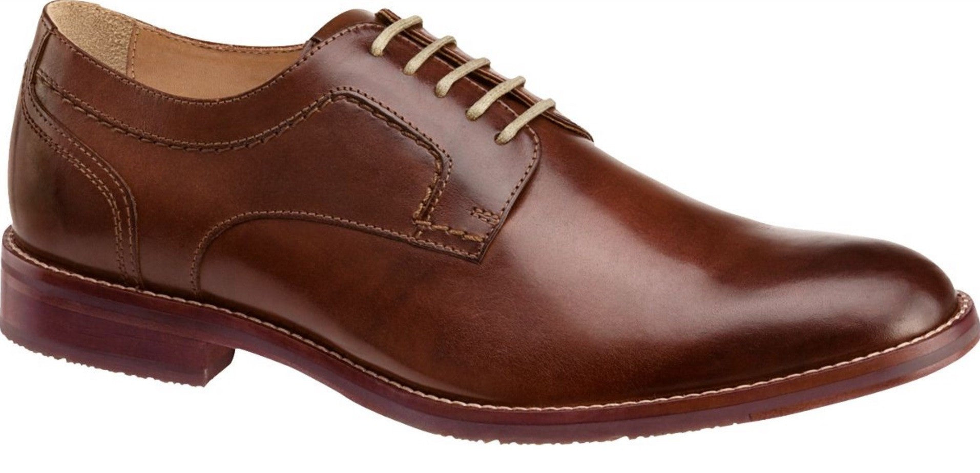 Johnston & Murphy GARNER PLAIN TOE 20-1823 Acajou Semelle Amovible Removable Insole