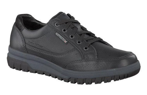 Mephisto PACO Black Men's Comfortable Lace-up Shoes with Removable Soles - Coordinator's Shop