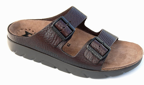 Mephisto ZONDER Dark Brown Buffalo 4451 Men's Orthopedic Walking Sandal - Boutique du Cordonnier