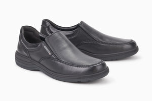 Mephisto DAVY Black Moccasin Comfortable men's leather lined with removable soles - Coordinator's Shop