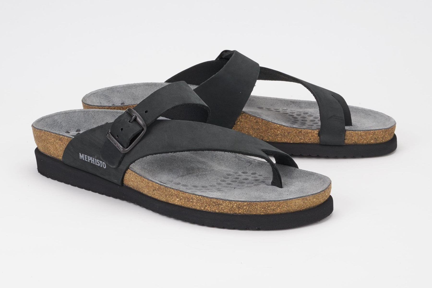 Mephisto HELEN Black Nubuck 6000 Sandal for women - Shop the Shoemaker