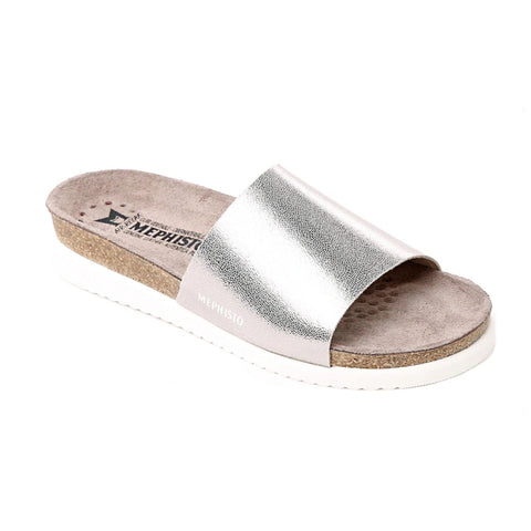 Mephisto HANIK Silver Venice 19168 Women Leather Sandals - Boutique du Cordonnier