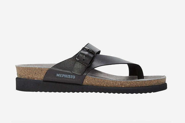 Mephisto HELEN BLACK 2800 leather Sandals for women - Boutique of the Shoemaker