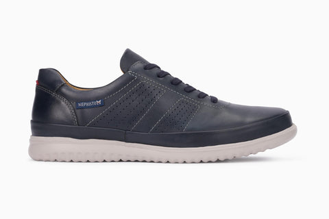 Mephisto TOMY Navy Chaussure ultra-léger pour hommes avec semelles amovibles