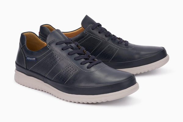 Mephisto TOMY Navy Men's ultra-lightweight shoe with removable soles - Coordinator's Shop