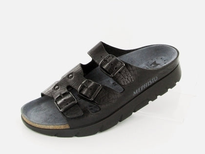 Mephisto ZACH FIT Black 4400 Orthopedic Sandals -Boutique du Cordonnier