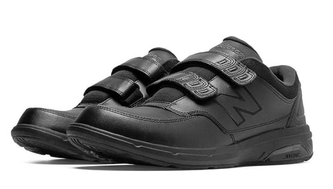 New Balance 813 MW813HBK Black VELCRO Men's Walking Shoes with Removable Insoles for Orthoses Walking Men Shoe VELCRO Removable Footbed for Orthotics - Boutique du Cordonnier